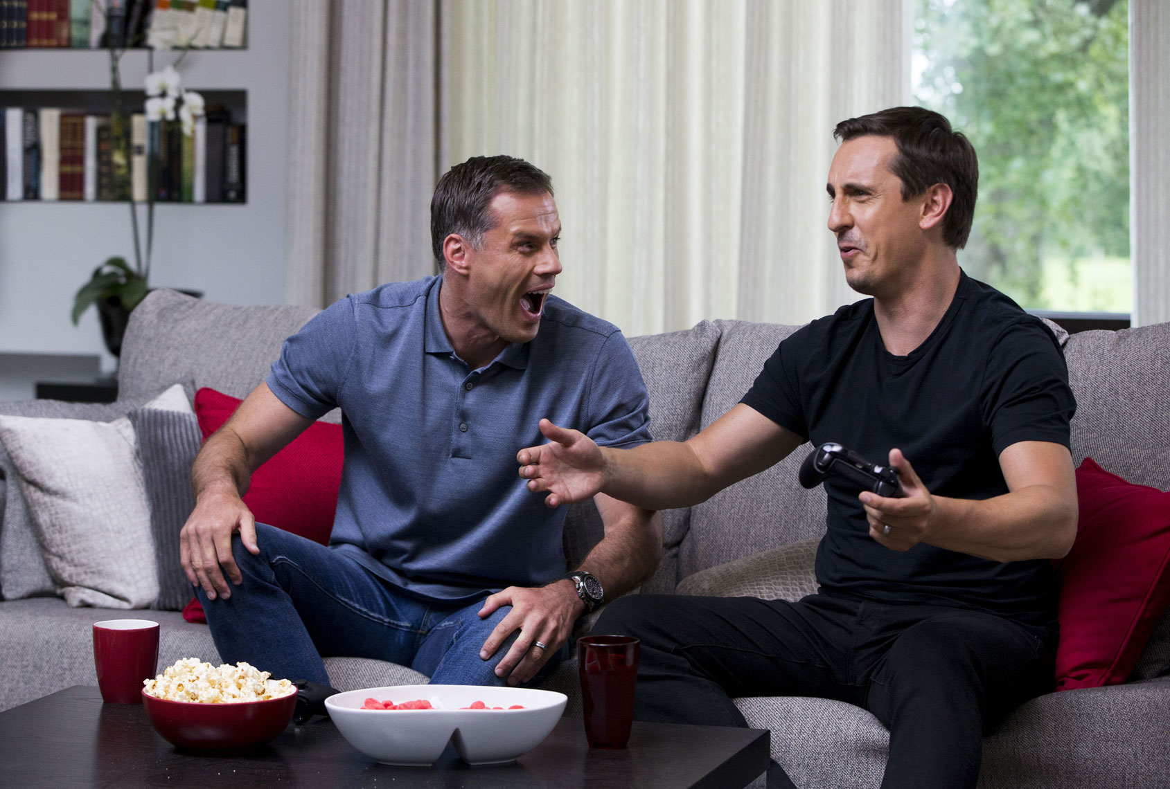 Gary Neville Jamie Carragher FIFA EA Sports © Mark Robinson Photography