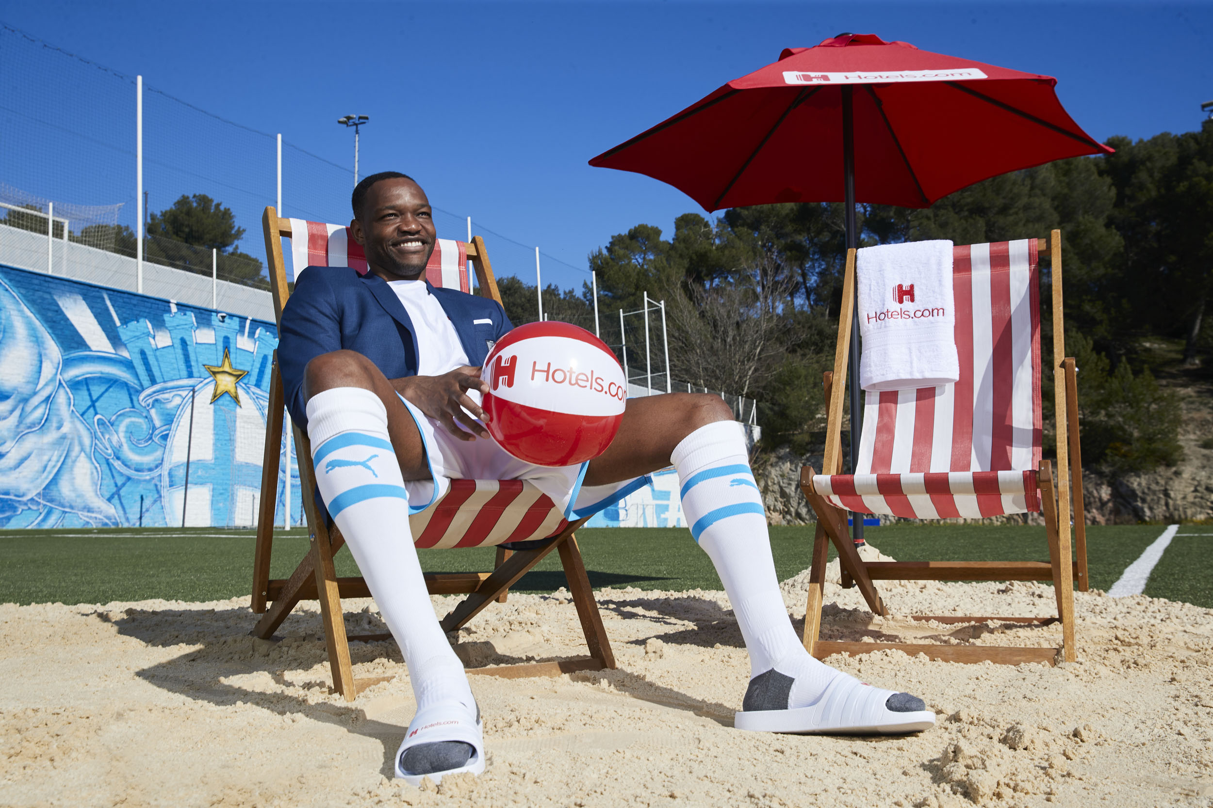 Steve Mandanda Olympique de Marseille Beach Ball Deckchair © Mark Robinson Photographer Hotels.com