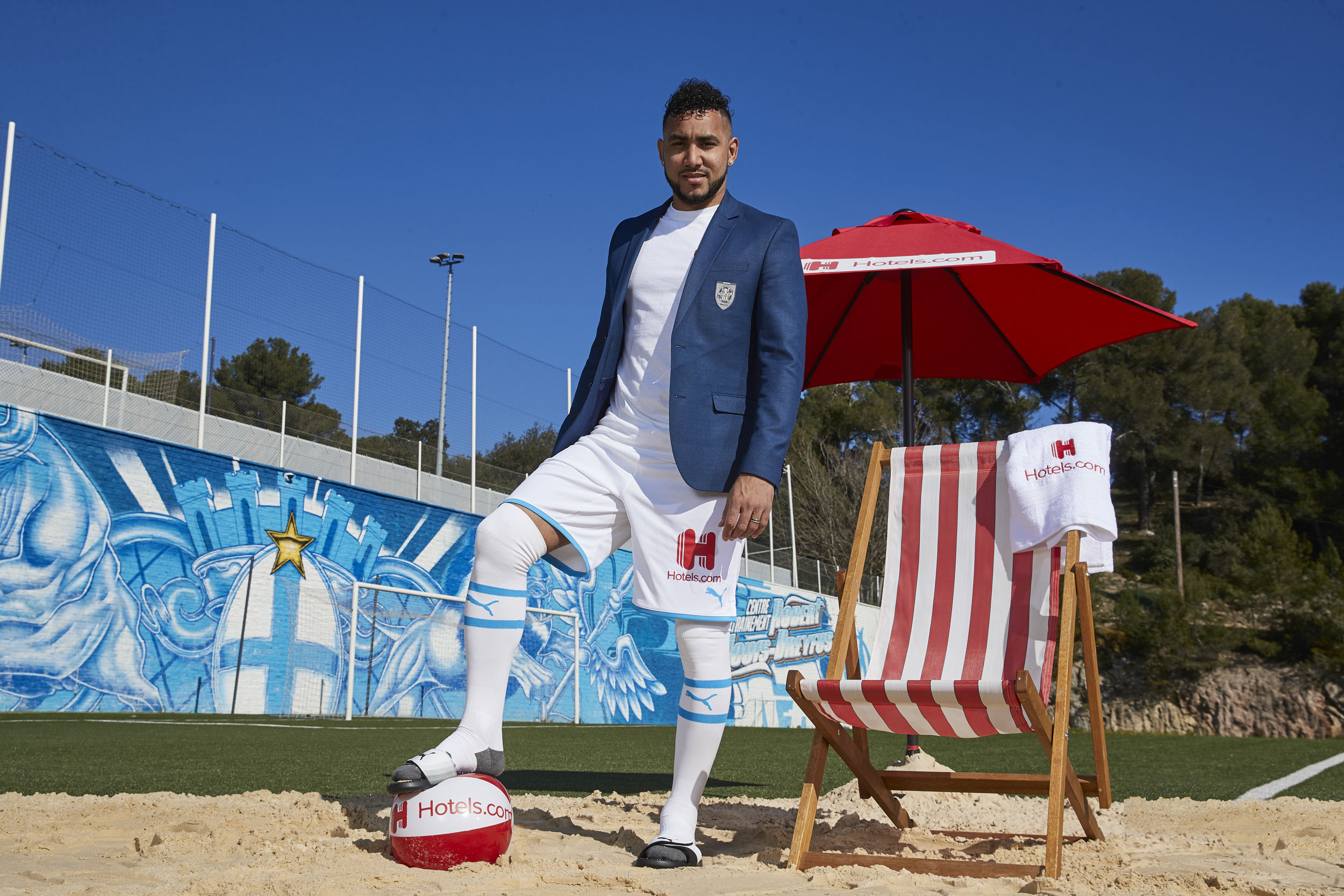 Dimitri Payet Olympique de Marseille Beach Ball Sand Standing © Mark Robinson Photographer Hotels.com