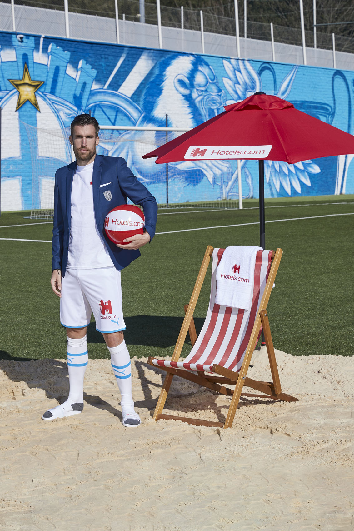 Kevin StrootmanOlympique de Marseille Beach Ball Sand © Mark Robinson Photographer Hotels.com
