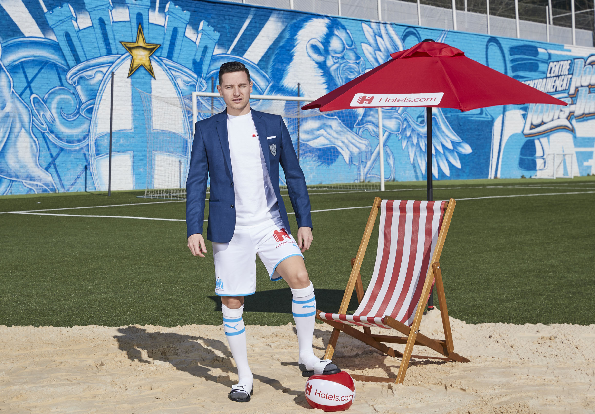 Florian Thauvin Olympique de Marseille Beach Ball Sand © Mark Robinson Photographer Hotels.com