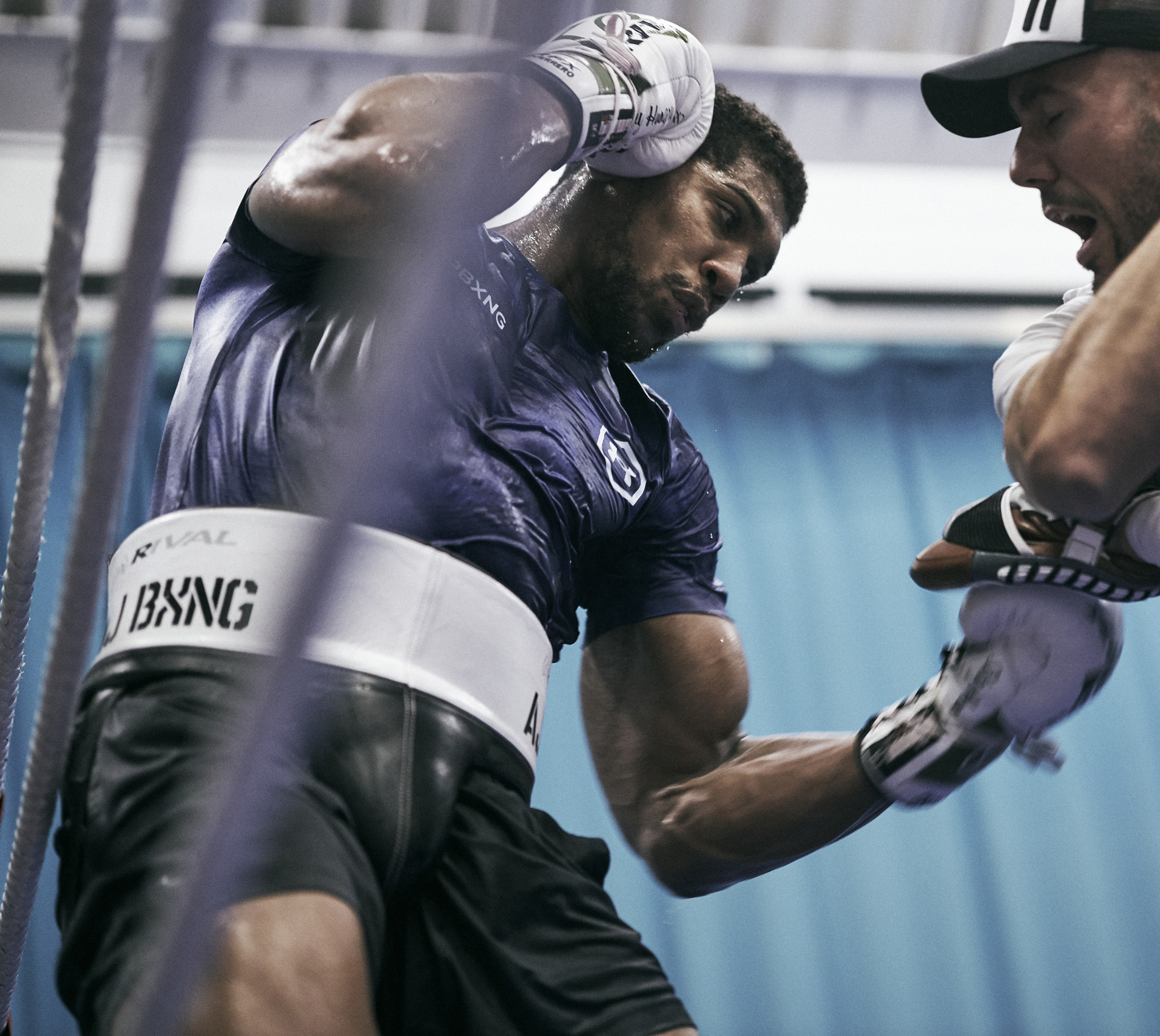 Anthony Joshua Training Sheffield Under Armour Body Shot © Mark Robinson Photographer Matchrrom Boxing 2019.