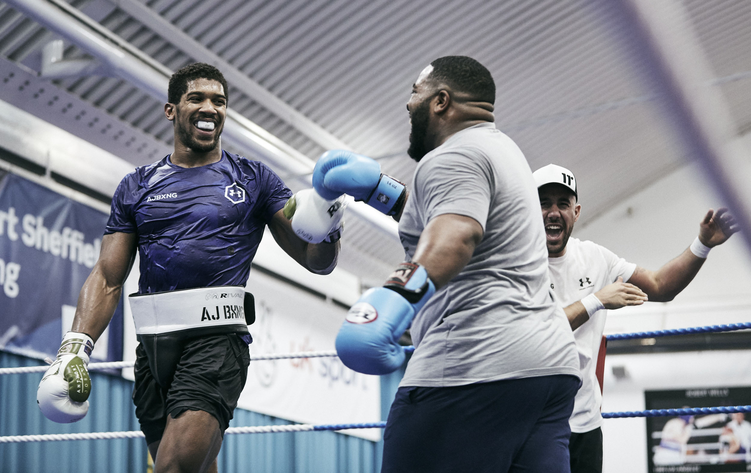 Anthony Joshua Training Sheffield Under Armour © Mark Robinson Photographer Matchrrom Boxing 2019.