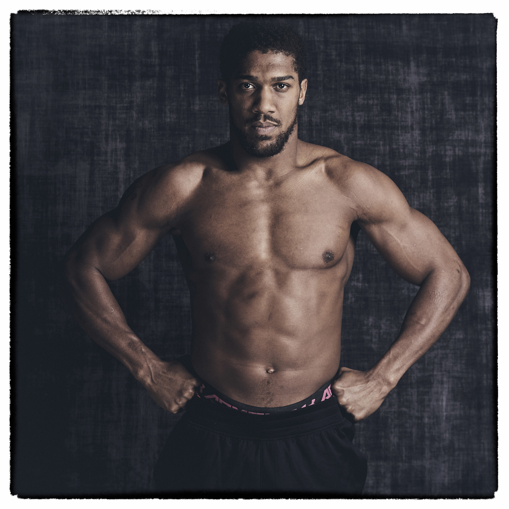 Anthony Joshua Photo Shoot Hands on Hips Saudi Arabia Rematch © Mark Robinson Photographer Matchrrom Boxing