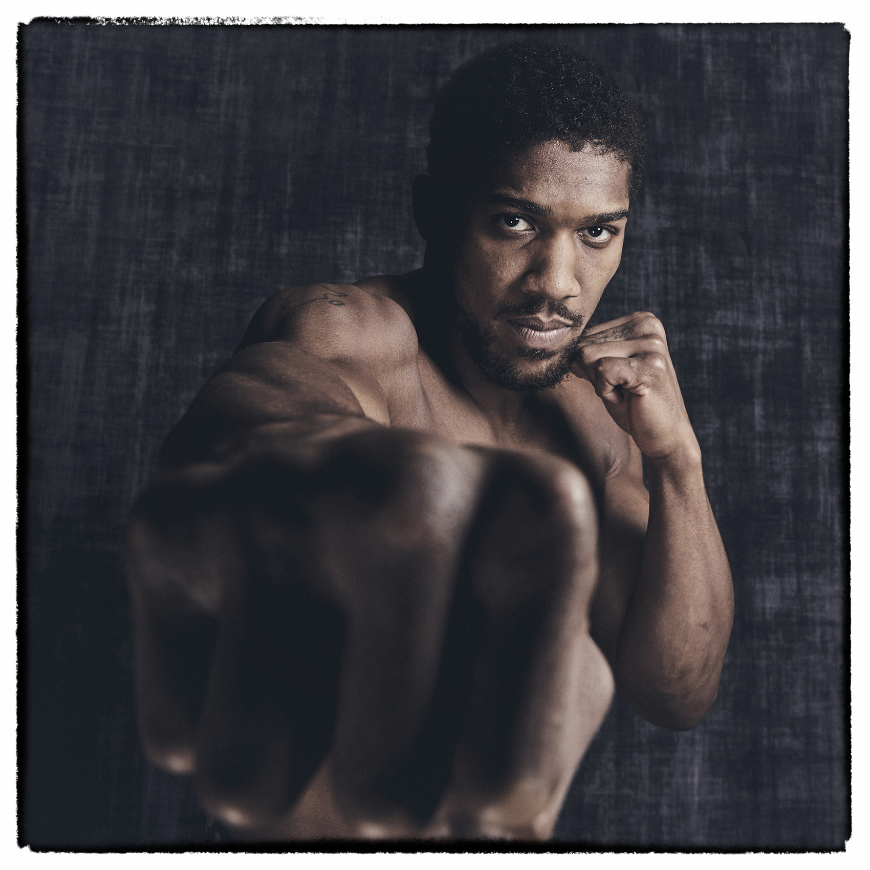 Anthony Joshua Photo Shoot Fist to Camera Saudi Arabia Rematch © Mark Robinson Photographer Matchrrom Boxing