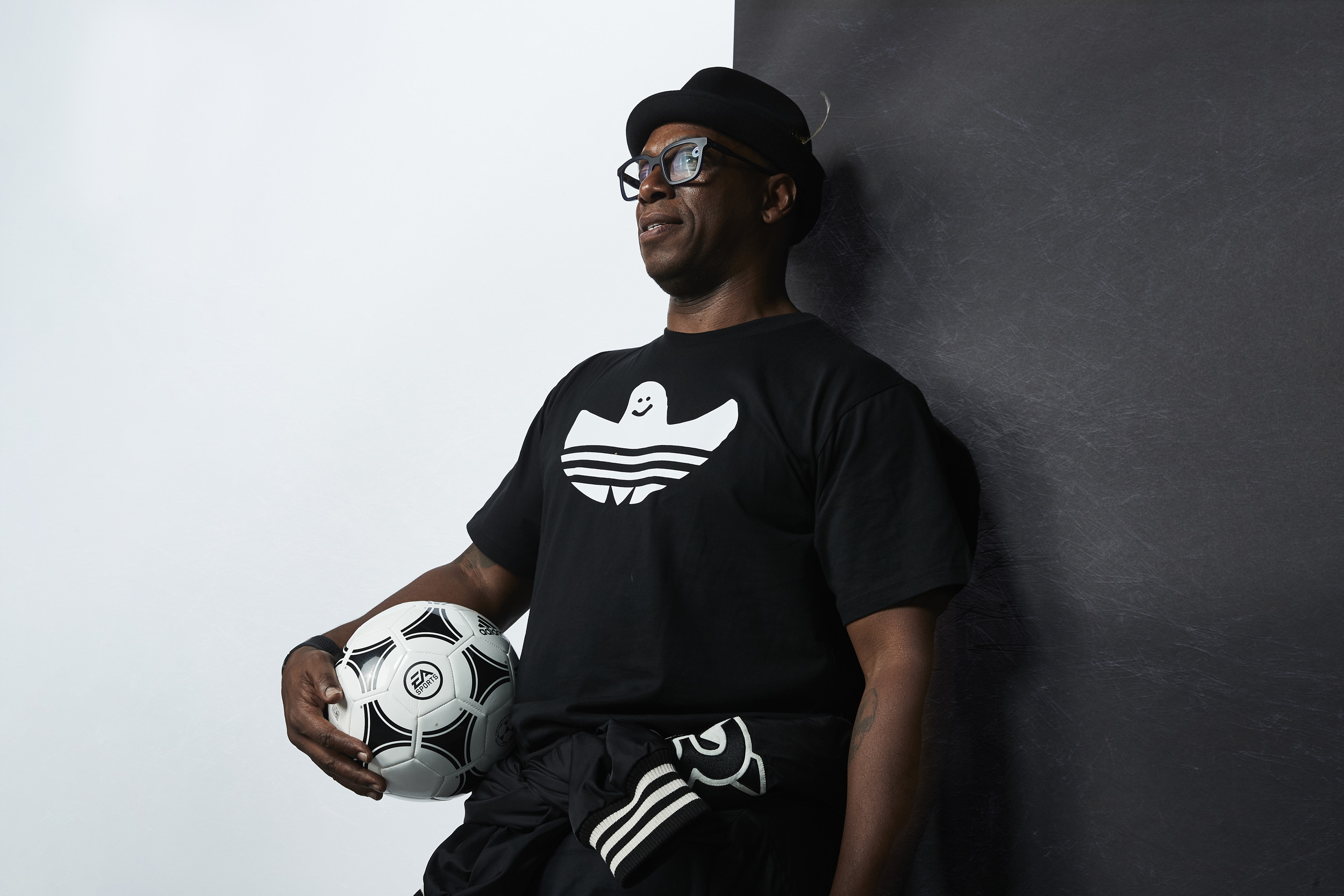 Ian Wright Icon Global Launch Photoshoot Portriat © Mark Robinson Photographer EA Sports Fifa20