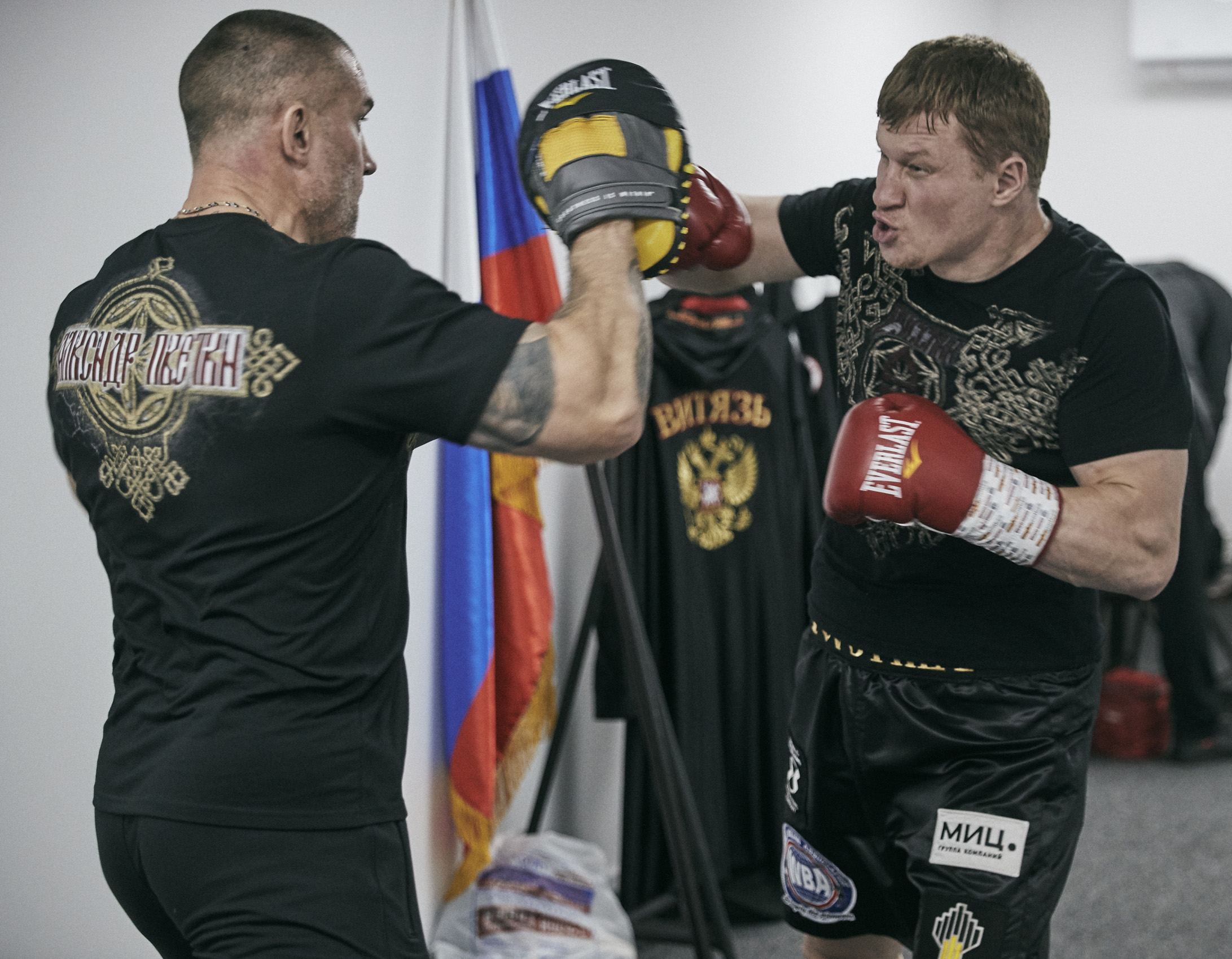 Alexander Povetkin Saudi Arabia warm up Dressing room Backstage © Mark Robinson Photographer Matchrrom Boxing