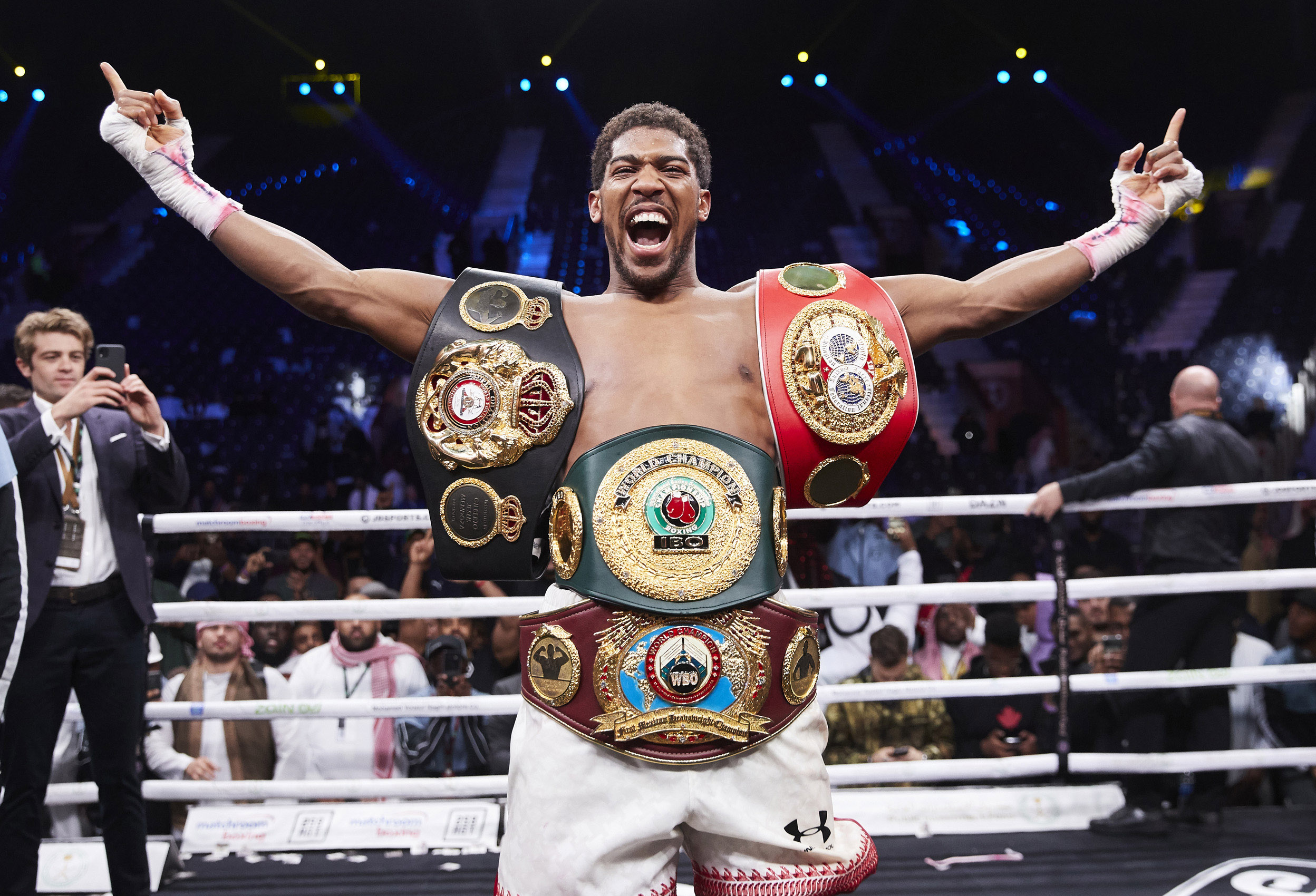 Anthony Joshua All The Belts Saudi Arabia Rematch Andy Ruiz Jr © Mark Robinson Photographer Matchrrom Boxing 2019.