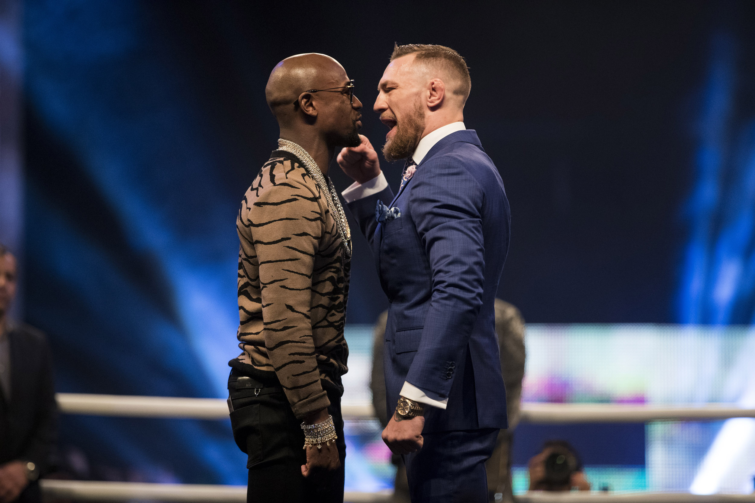 Floyd Mayweather Conor McGregor Boxing Press Conference Wembley London  © Mark Robinson Photographer Matchrrom Boxing
