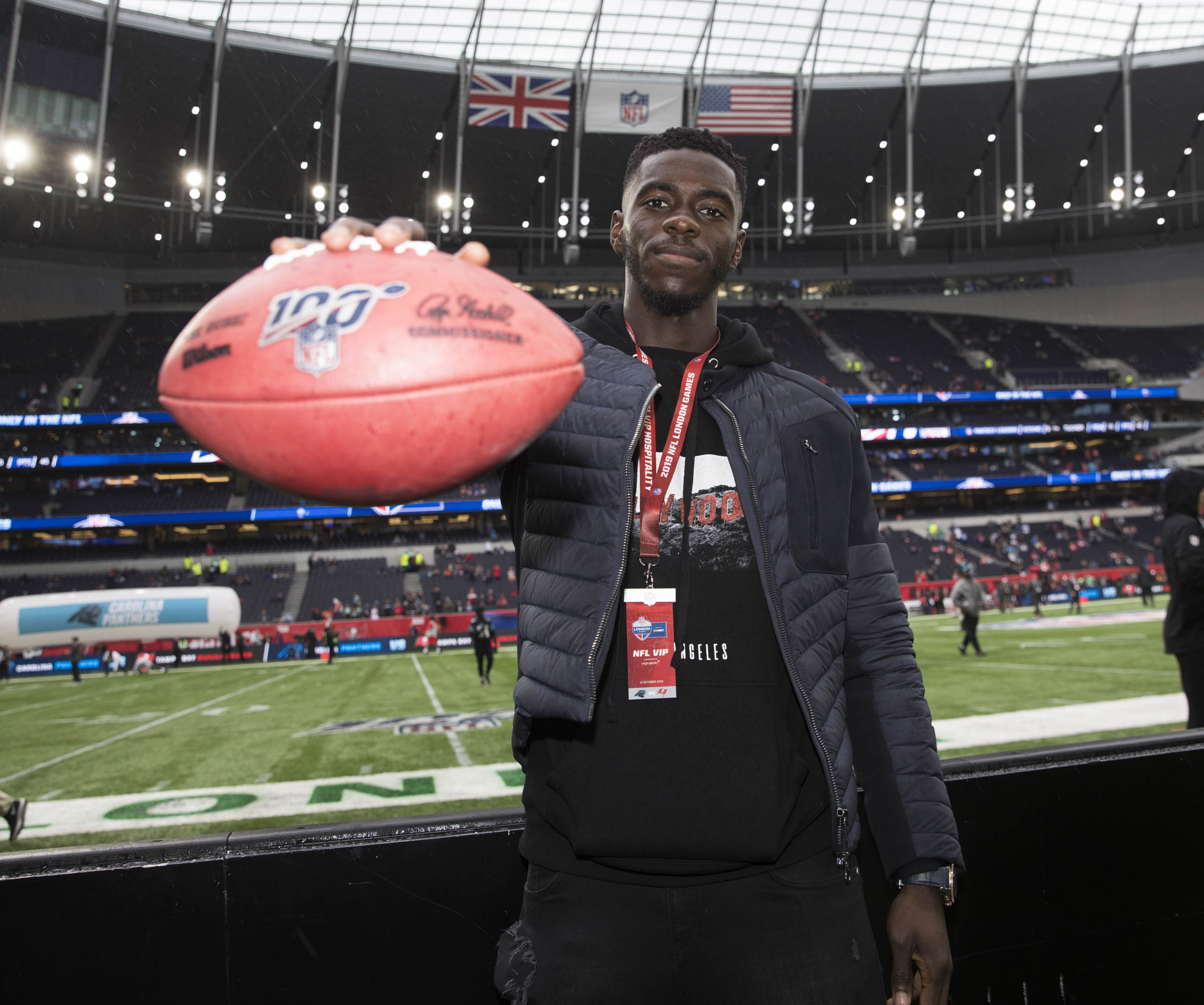 NFL UK Axel Tuanzebe American Football © Mark Robinson Photographer Photography NFL UK