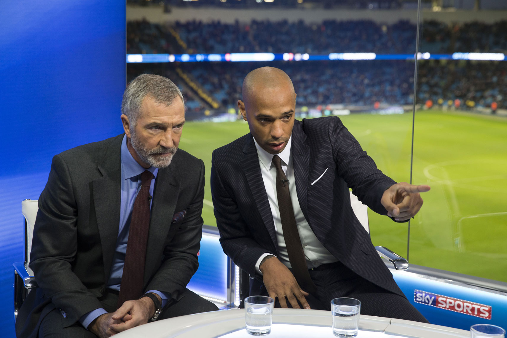 Sky Sports Thierry Henry Mark Robinson