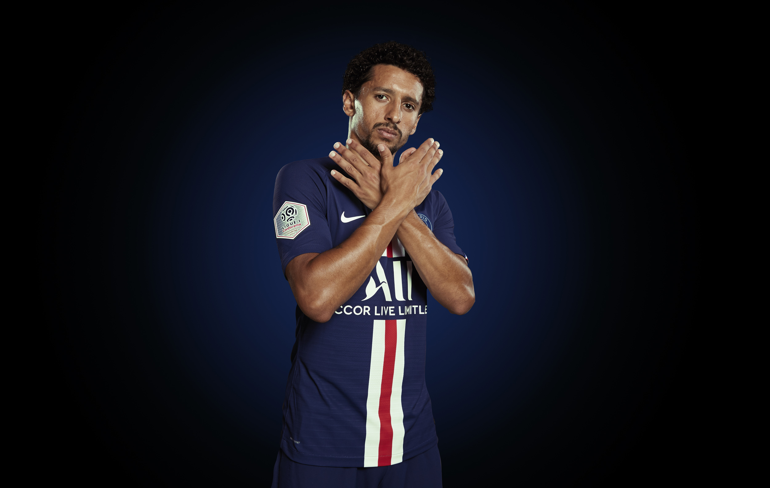 Marquinhos Photoshoot Portrait  Paris St Germain © Mark Robinson Photographer EA Sports Volta Fifa20