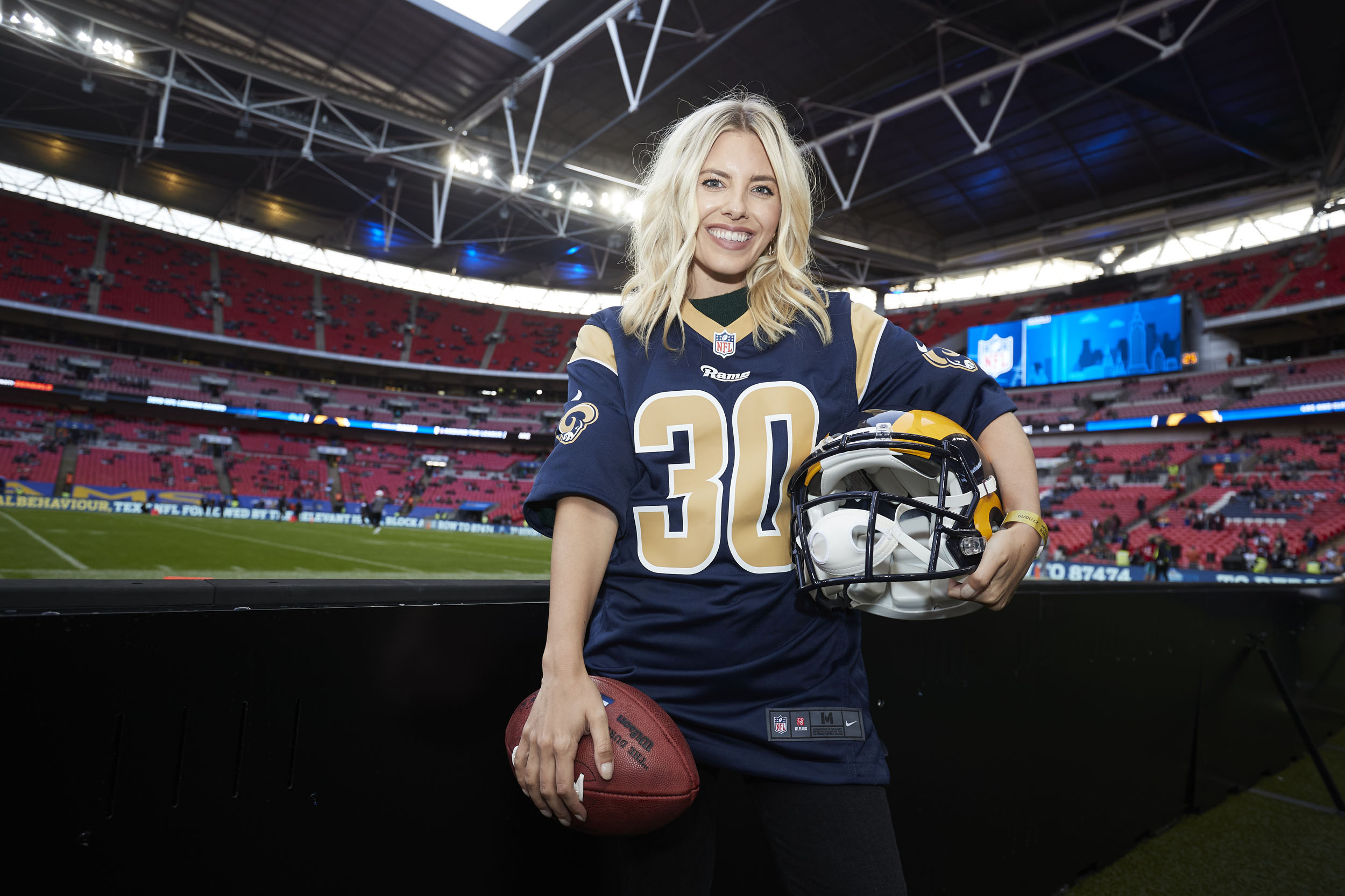 NFL UK Mollie King American Football © Mark Robinson Photographer Photography NFL UK