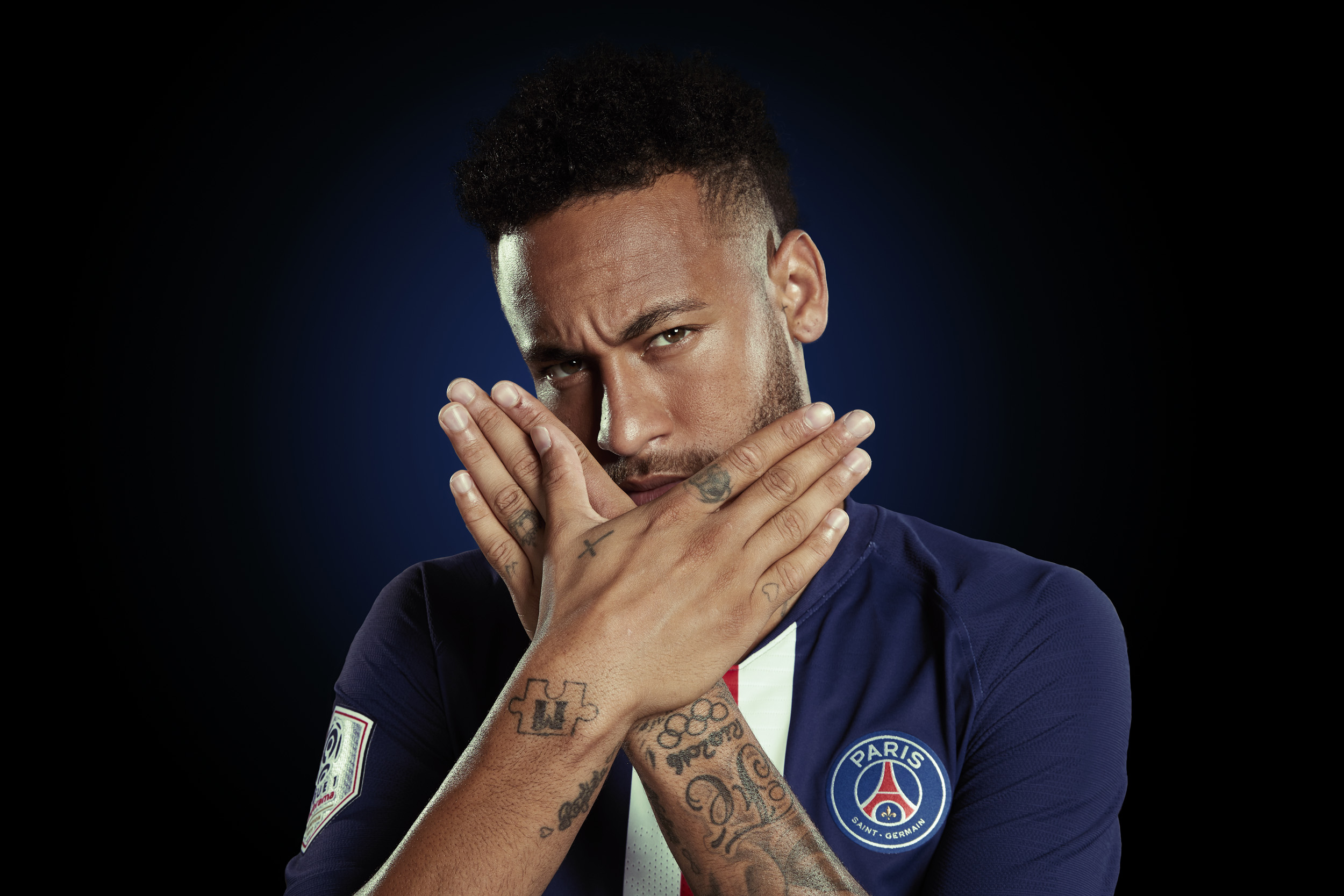 Neymar Photoshoot Portrait  Paris St Germain © Mark Robinson Photographer EA Sports Volta Fifa20
