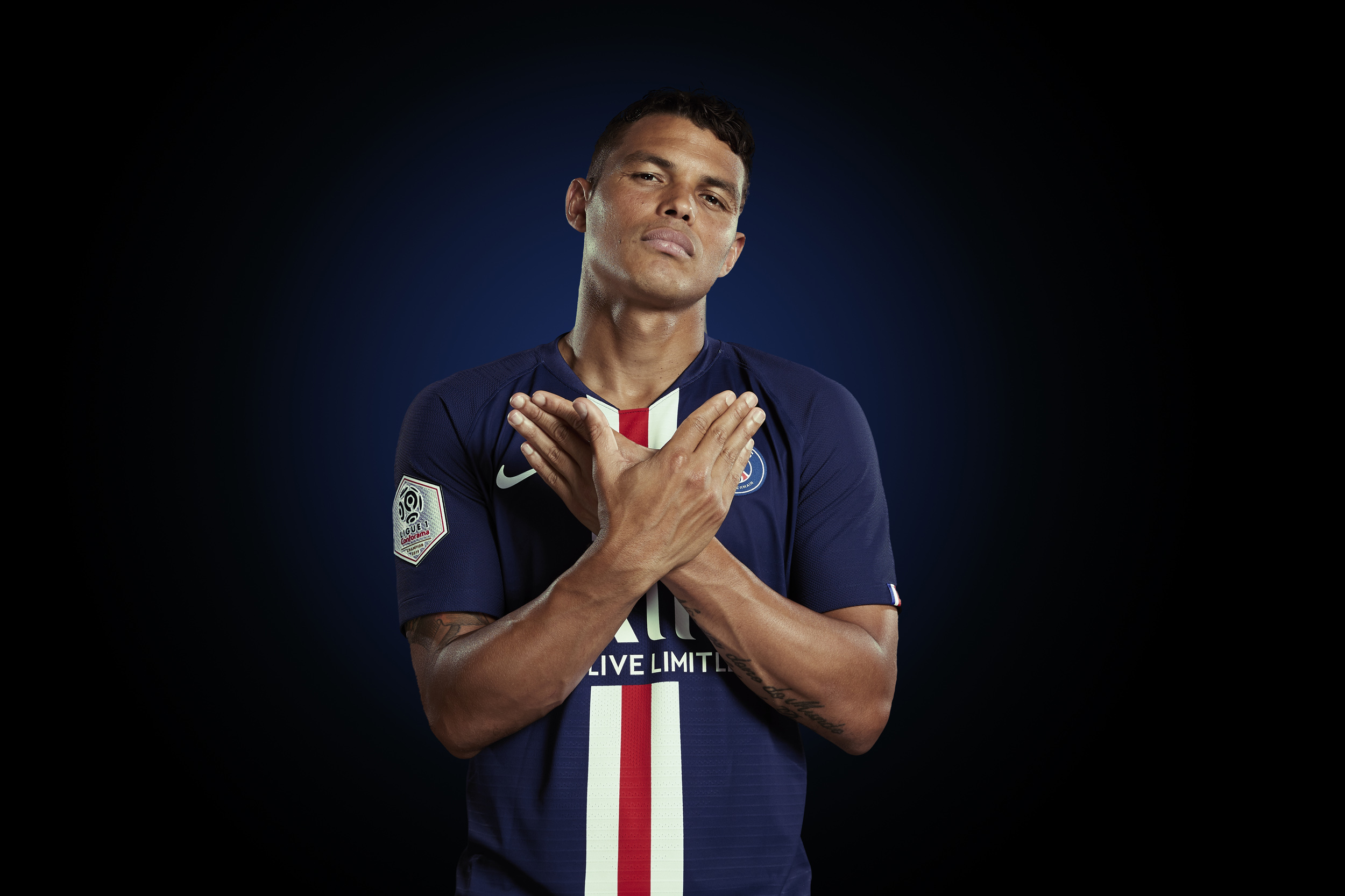 Thiago Silva Photoshoot Portrait  Paris St Germain © Mark Robinson Photographer EA Sports Volta Fifa20